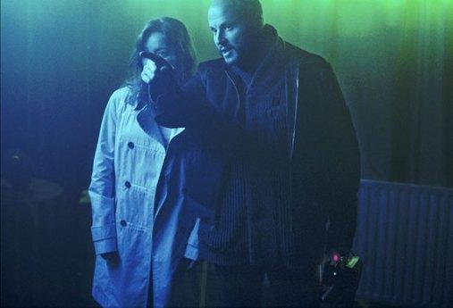 Du Welz e Lola Dueñas sul set