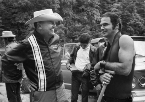 James Dickey e Burt Reynolds sul set