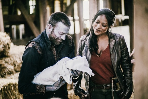 "Z NATION -- ""Zombaby!"" Episode 205 -- Pictured: (l-r) -- (Photo by: Daniel Sawyer Schaefer/Go2 Z Ice/Syfy)"