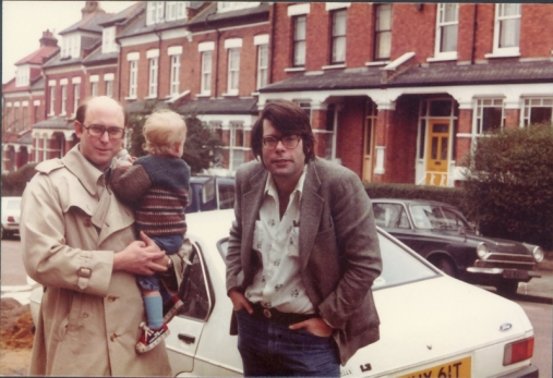 5-Peter-Straub-Benjamin-Straub-and-Stephen-King-London-1977-by-Susan-Straub